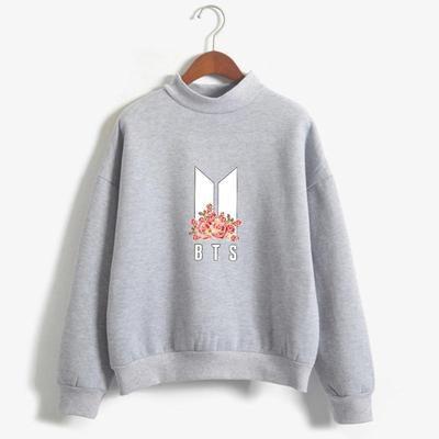 BTS Bangtan Boys Kpop Army Floral Pullover Sweatshirts Sweater BTS Fashion - Gotamochi Kawaii Shop