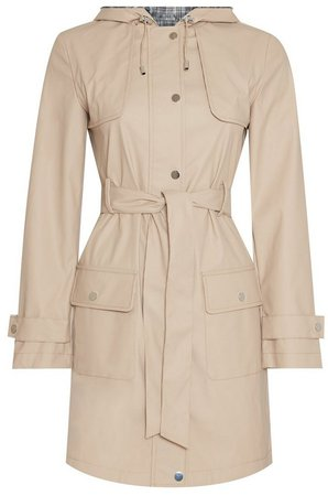 Stone Raincoat Mac Coat