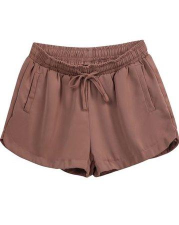 brown pajama shorts