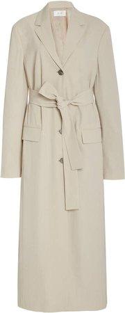 The Row Owen Belted Wool-Blend Long Coat