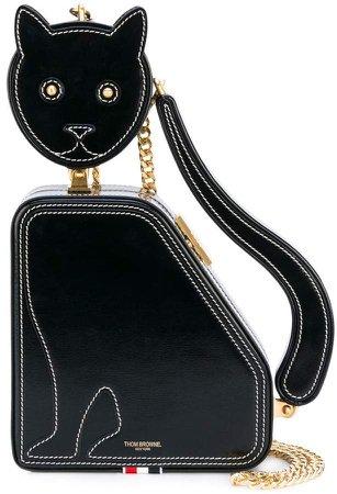 CAT ICON CALFSKIN CLUTCH BAG
