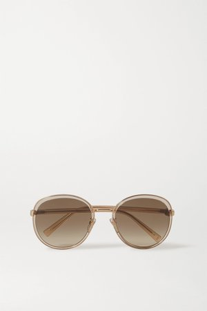 Gold Oversized round-frame acetate and gold-tone sunglasses | Givenchy | NET-A-PORTER