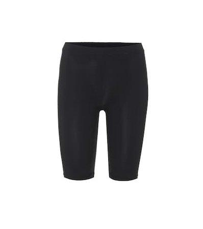 Biker stretch jersey shorts