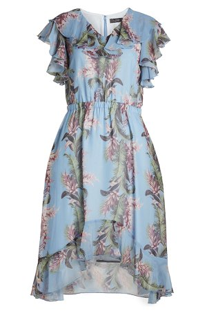 Flower Print Dress with Ruffles Gr. DE 36