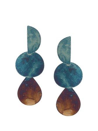 Annie Costello Brown Mattea Drop Earrings Ss20   Farfetch.com