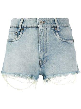 Blue Miu Miu Denim Shorts   Farfetch.com