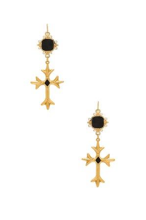 The Saint Andrea Cross Earrings