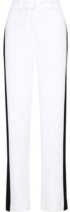 Two-tone Crepe Wide-leg Pants