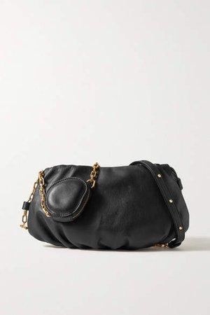 Gabi Leather Shoulder Bag - Black
