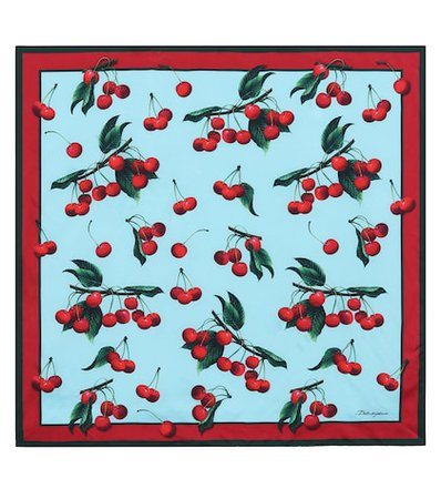 Exclusive to Mytheresa – cherry printed silk scarf