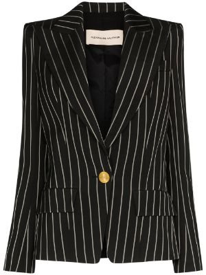 black & gold Alexandre Vauthier pinstripe single-breasted blazer with Express Delivery - Farfetch