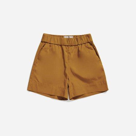 Women's Easy Chino Long Short | Everlane brown