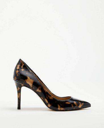 Mila Tortoiseshell Print Patent Leather Pumps | Ann Taylor