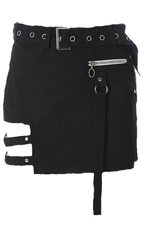 black edgy skirt