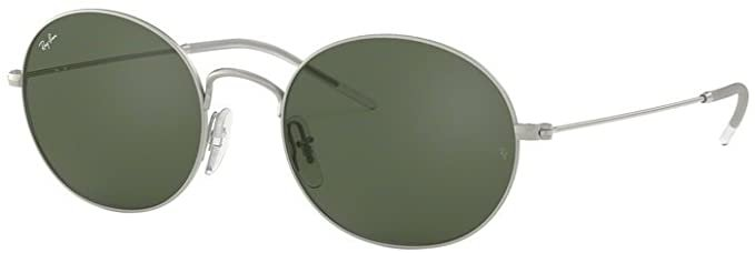 Amazon.com: Ray-Ban RB3594 911671 53M Rubber Silver/Dark Green Sunglasses For Men For Women: Clothing