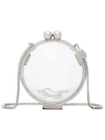 Marzook Lucid Platinum sphere plexiglass clutch