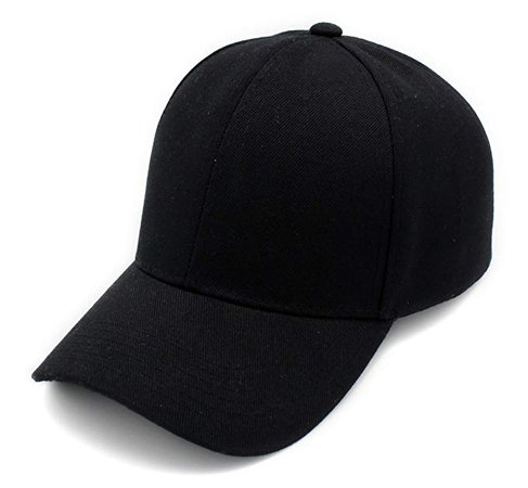 Amazon.com: Baseball Cap Hat Men Women - Classic Adjustable Plain Blank, BLK: Clothing