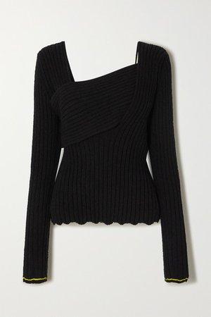 Bottega Veneta | Ribbed cotton-blend sweater | NET-A-PORTER.COM