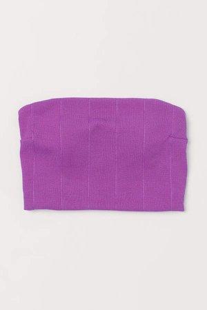 Long Bandeau Bikini Top - Purple