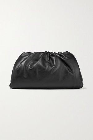 Black The Pouch large gathered leather clutch | Bottega Veneta | NET-A-PORTER