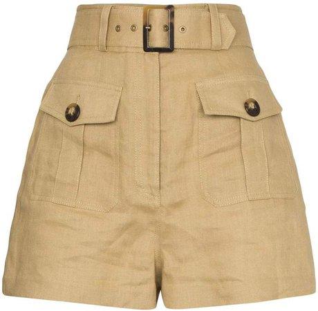 buttoned safari shorts