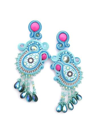 party colorful statement earrings
