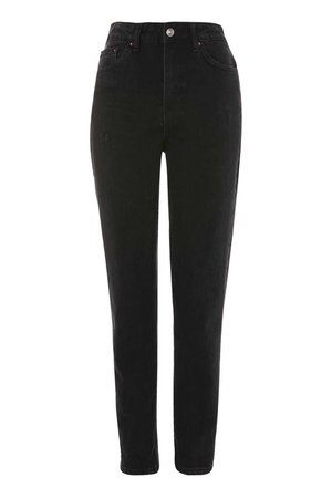 MOTO Authentic Mom Jeans in Black | Topshop