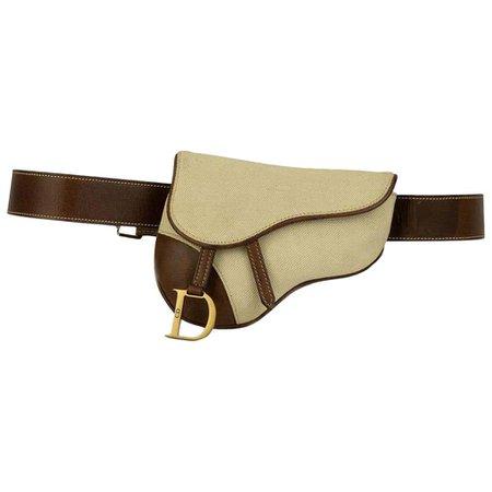 Christian Dior Vintage Belt Saddle Bag Bum Bag Waist Fanny Pack For Sale at 1stDibs