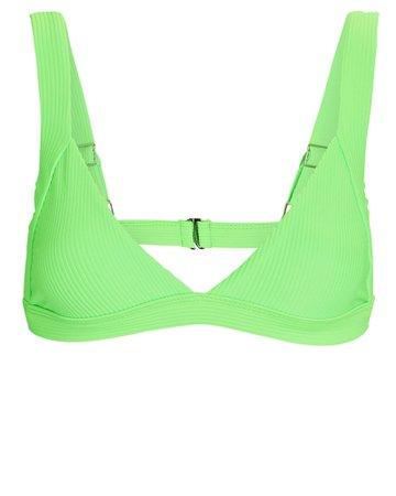 Frankies Bikinis Georgia Ribbed Triangle Bikini Top | INTERMIX®