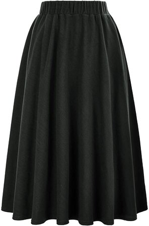 50s Retro Plaid Midi Swing Skirts Wear to Work Size M KK495-4 at Amazon Women's Clothing store