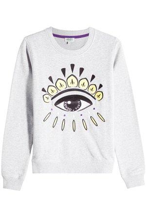 Embroidered Cotton Sweatshirt Gr. S
