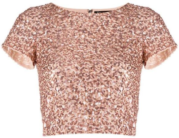 Alice+Olivia sequin cropped T-shirt