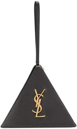 Monogram triangle bag