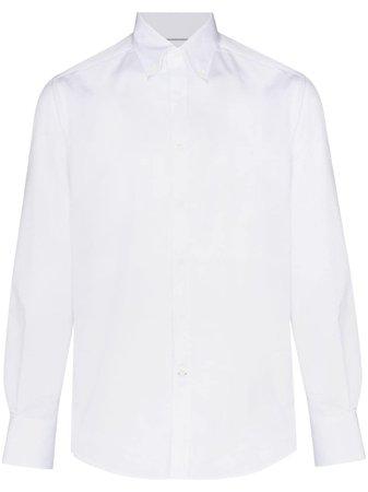 Brunello Cucinelli long-sleeve cotton shirt white MEC241716 - Farfetch