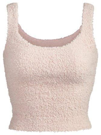 SKIMS Pink Knit Tank Top