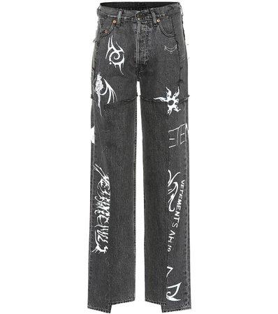 VETEMENTS x Levi's® high-rise wide-leg jeans