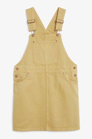 Denim dungaree dress - Blue wash - Dresses - Monki SE