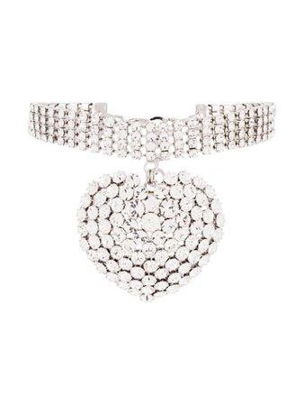Alessandra Rich Heart Charm Choker Necklace - Farfetch