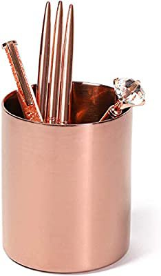 Amazon.com : Rose Gold Pen Holder for Desk, Pencil Cup : Office Products