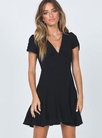The Sting Mini Dress Black