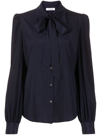 P.A.R.O.S.H. Long Sleeve Bow Detail Blouse - Farfetch