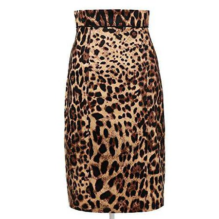 Womens Leopard Print Pencil Skirt Vintage Style Pin Up Style 50s Mid-Calf at Amazon Women's Clothing store: