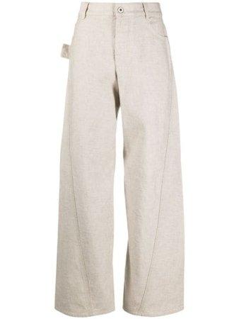 Bottega Veneta wide-leg Panelled Trousers - Farfetch