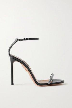 Moon 105 Crystal-embellished Leather Sandals - Black