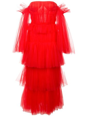 Carolina Herrera layered tulle dress £6,786 - Shop Online SS19. Same Day Delivery in London