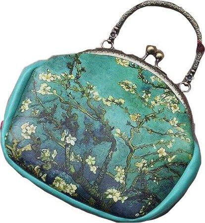 unique Van Gogh purse teal art filler bag
