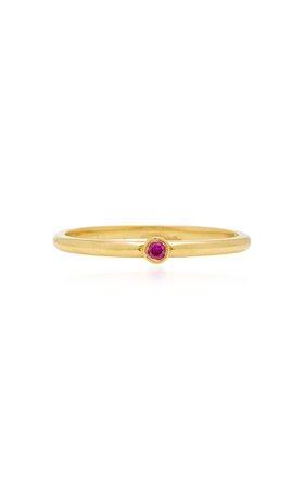 Octavia Elizabeth 18K Gold Ruby Ring