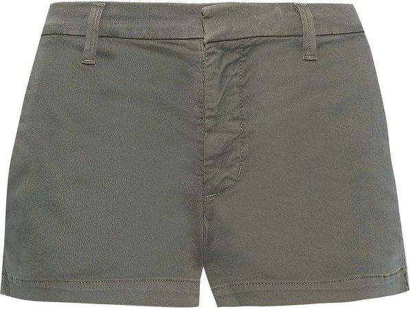 Clara Cotton-blend Twill Shorts