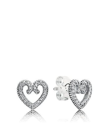 PANDORA Sterling Silver & Cubic Zirconia Heart of Winter Necklace by Pandora | Spring - Free Shipping. On Everything