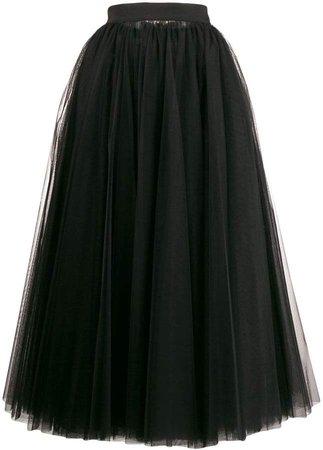 long tulle full skirt